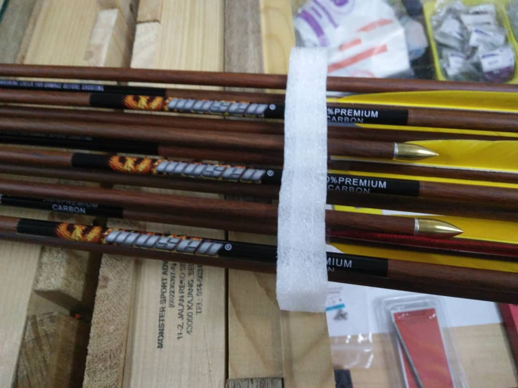 Pure Carbon Wood Coating Musen Arrow Archery - 12pcs