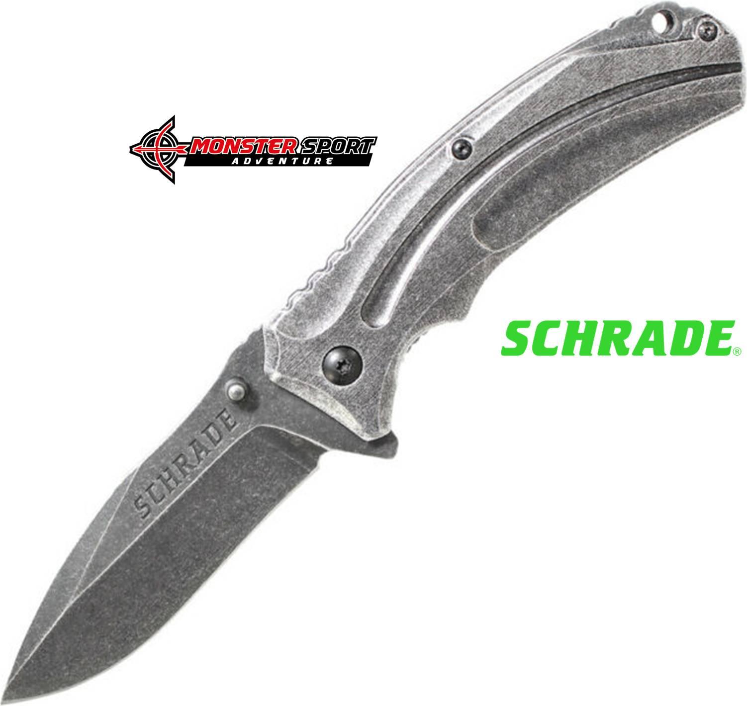 Schrade Stonewash Linerlock Knife SCH504