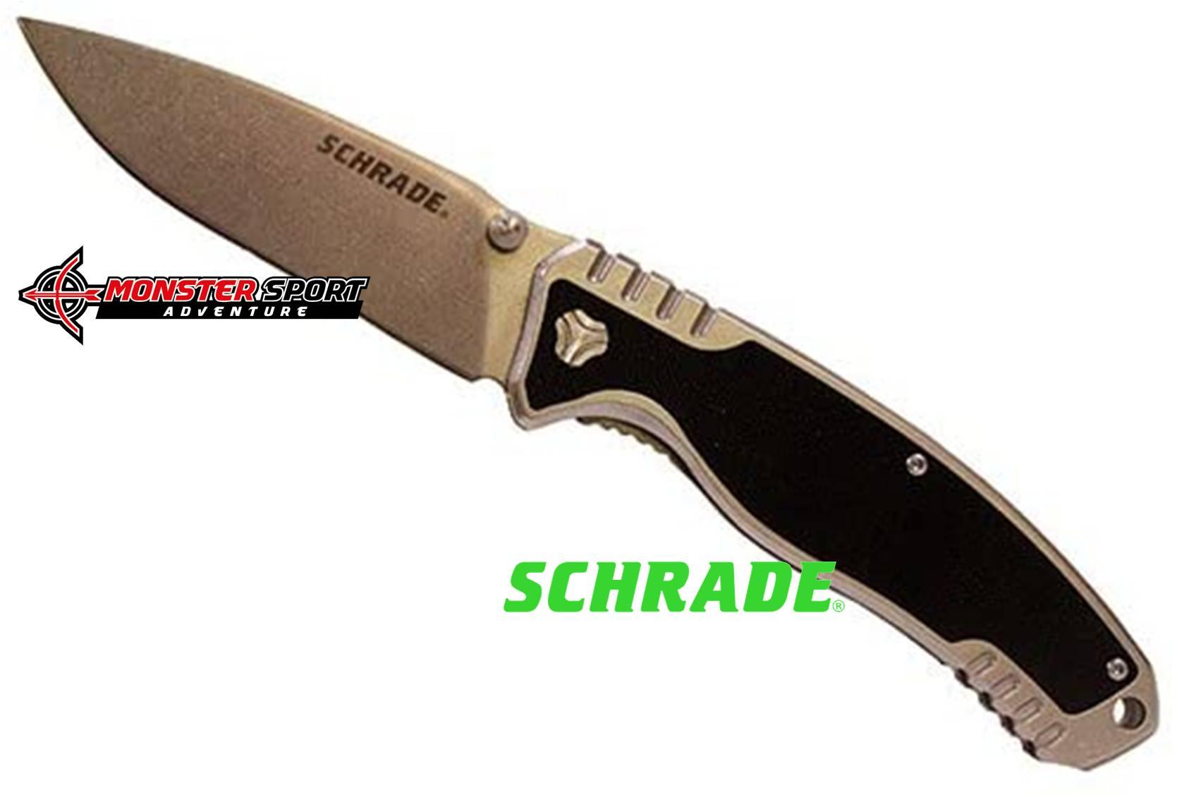 Schrade Ultra Glide Linerlock Folding Blade Drop Point SCH305