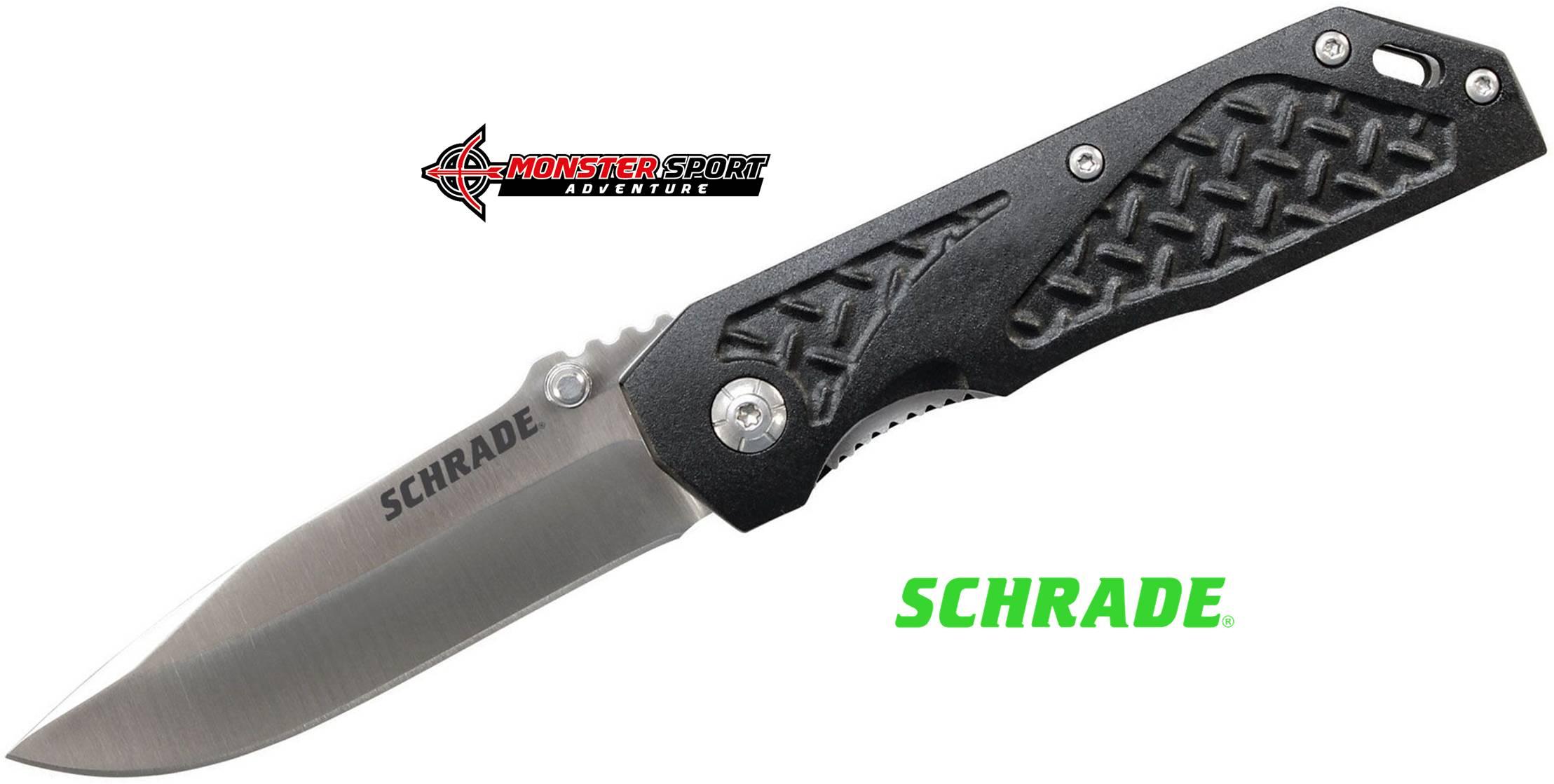 Schrade Black Linerlock Folding Blade SCH215